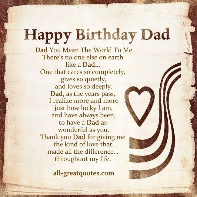Birthday Quotes For Dad Elegant Serious Dad Birthday Card Sayings