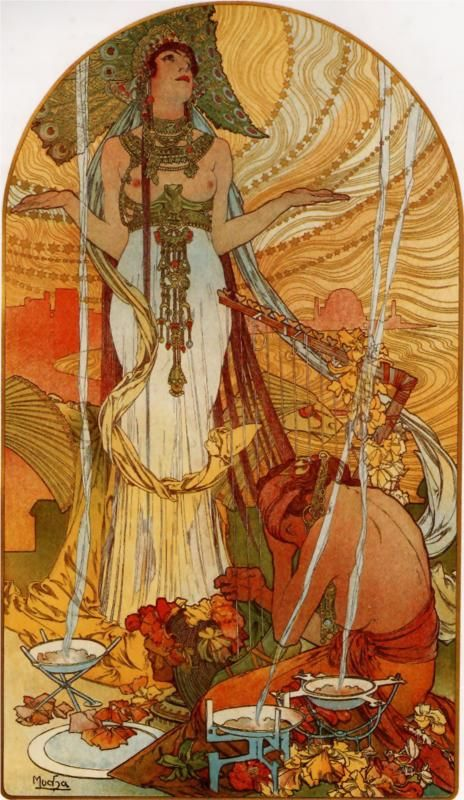 'Salammbo' by Alphonse Mucha.