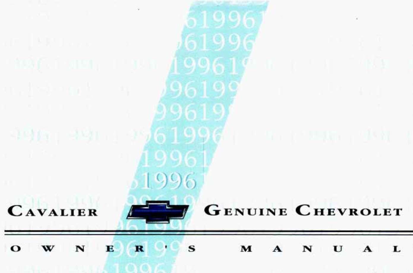 Chevrolet Cavalier 1996 Owner S Manual Has Been Published On Procarmanuals Com Https Procarmanuals Com Chevrolet Chevrolet Cavalier Owners Manuals Chevrolet