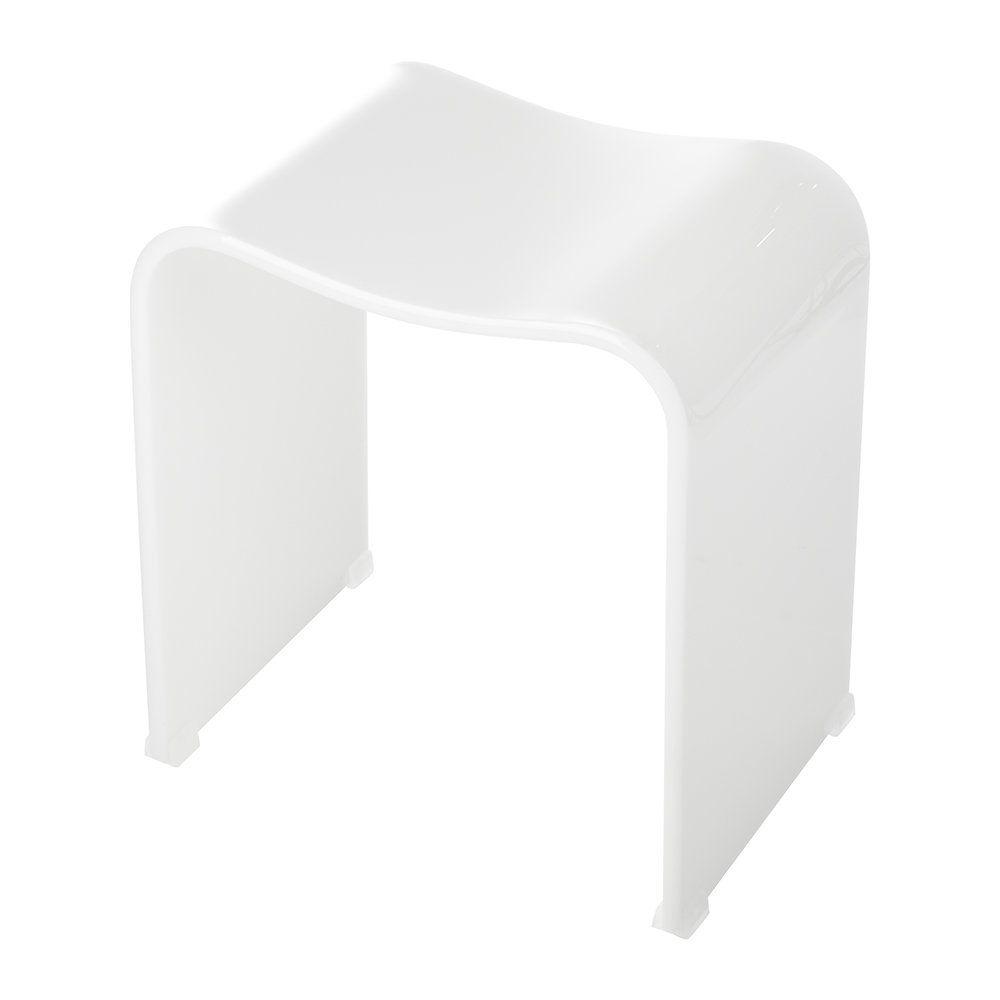 Dw 80 Bathroom Stool Acrylic White