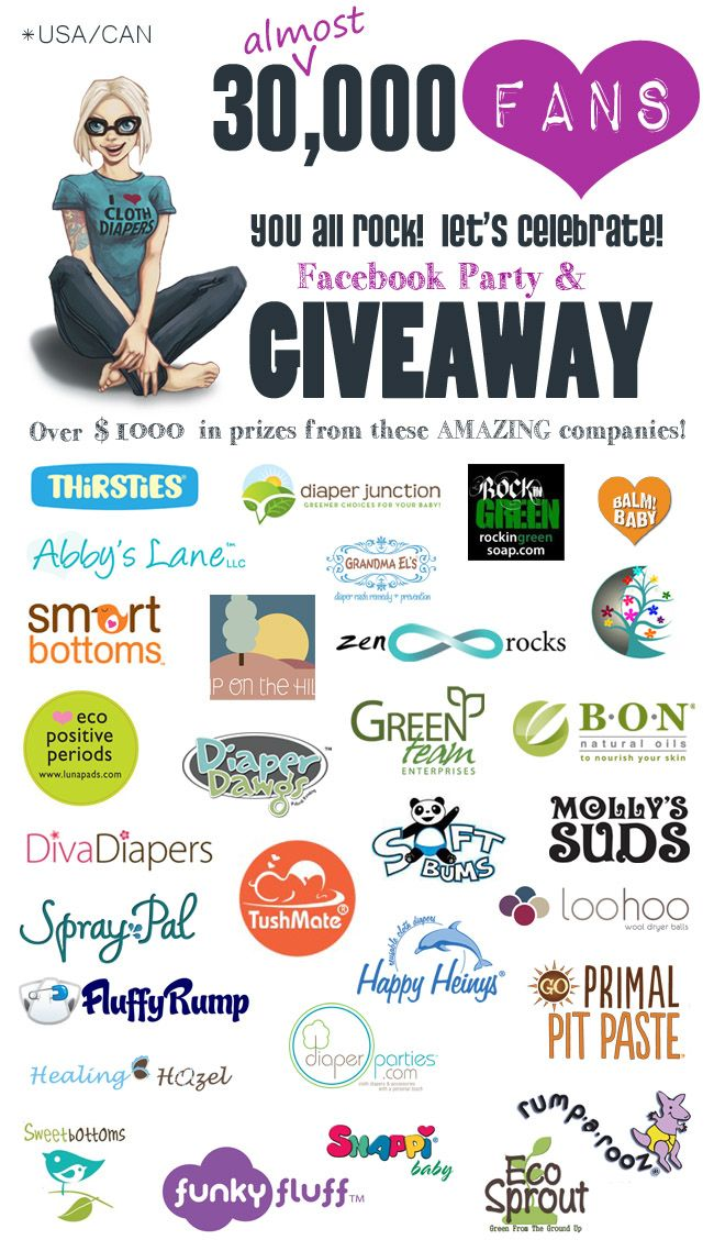 Cloth Diaper Geek 30K Giveaway includes a $50 Gift Card to DivaDiapers.com [ENDS NOV 15, 2014]