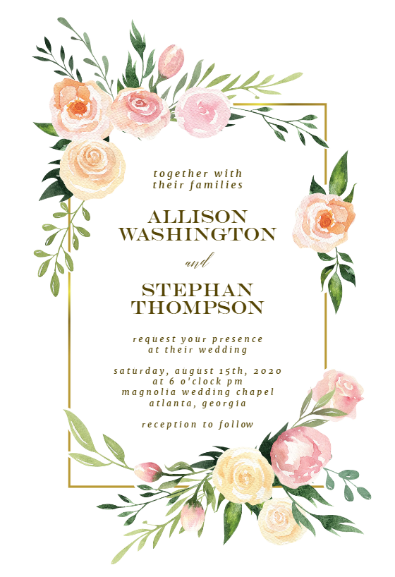 Pink Botanical Wreath Wedding Invitation Template Free Greetings Island Bridal Shower Invitations Diy Printable Bridal Shower Invitations Templates Bridal Shower Invitations Free