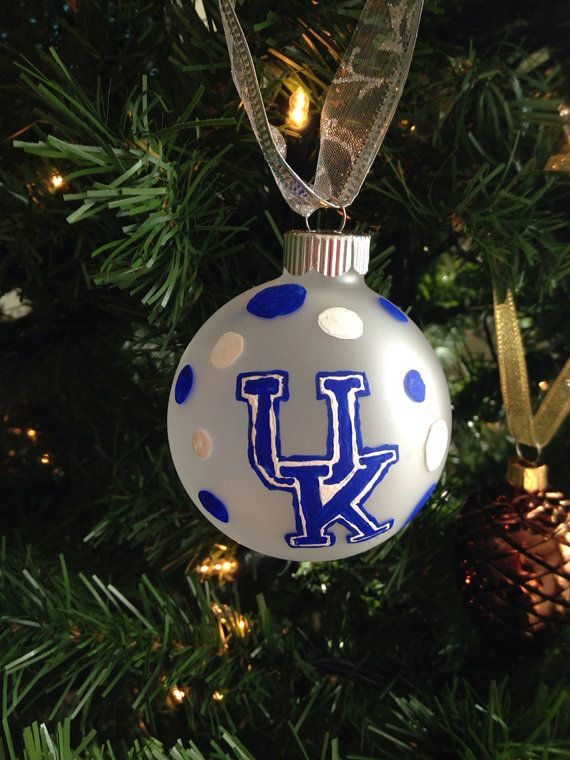 University of Kentucky Hand Painted Christmas Ornament SET OF 2 on Etsy,  $10.00 - University Of Kentucky Hand Painted Christmas Ornament SET OF 2 On