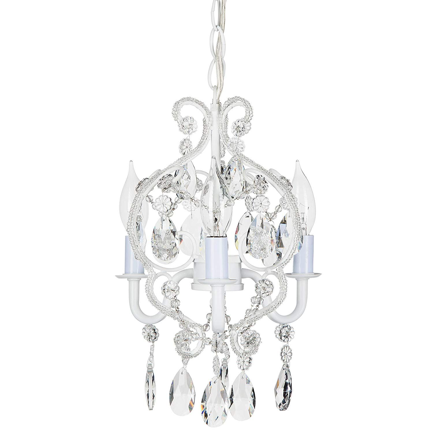 Amalfi Decor 5 Light LED Crystal Beaded Chandelier, Mini
