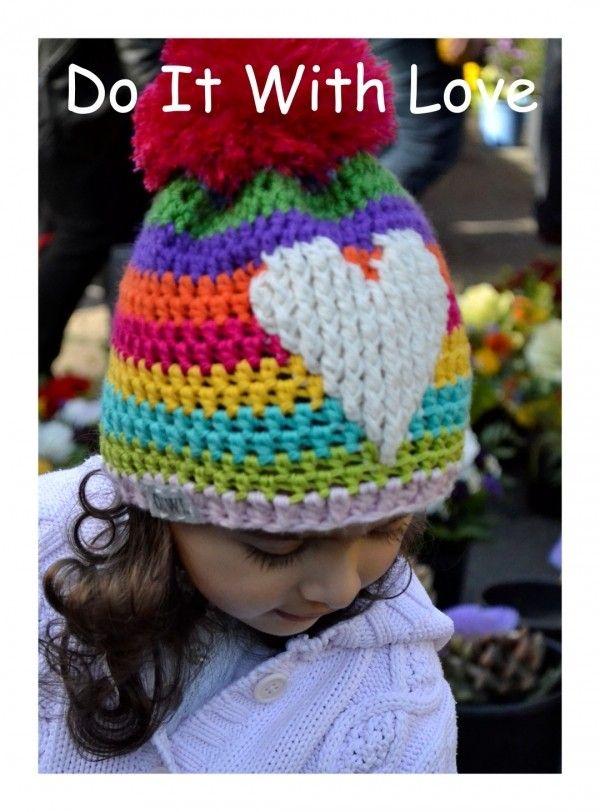 Mütze Ein Herz Für Kinder Häkelanleitung Bunt | Kinder Mützen ...