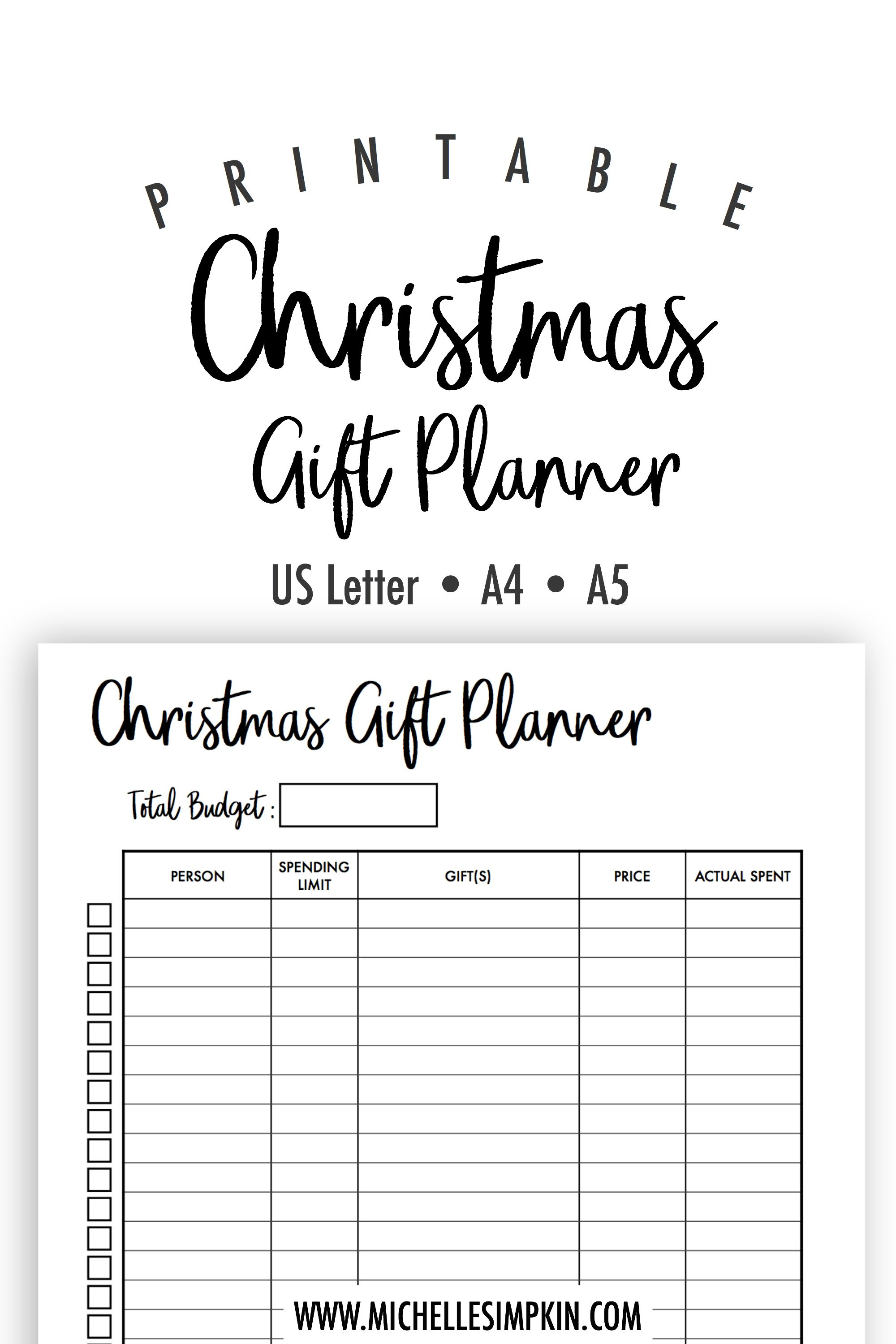 Having a hard time keeping track of what gifts to get your loved ...