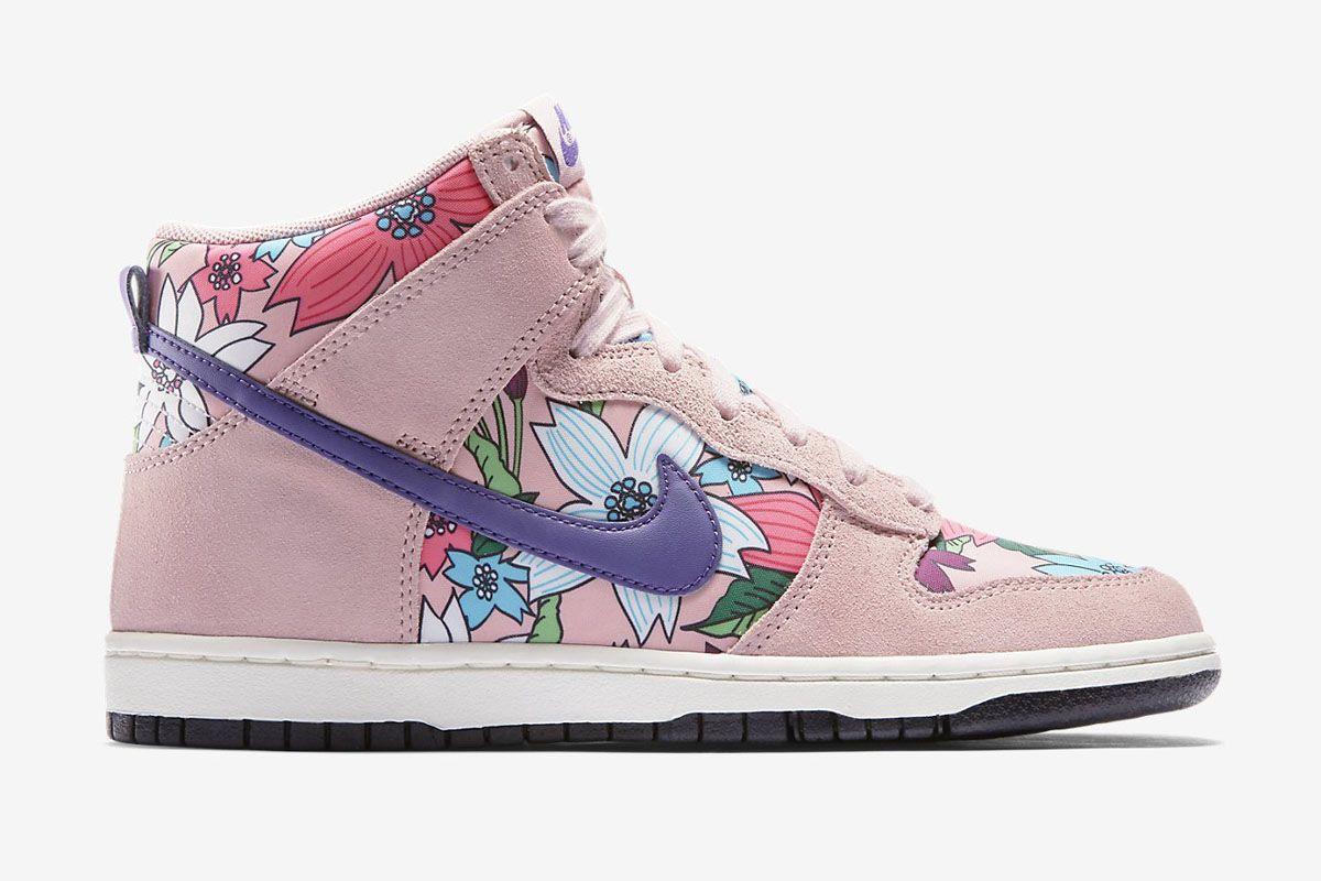 "Nike WMNS Dunk Hi Skinny Print ""Pink Glaze"" (Aloha Pack)"