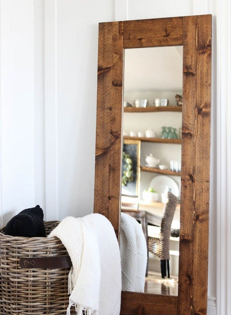 étourdissant miroir contour bois Décoration française Pinterest