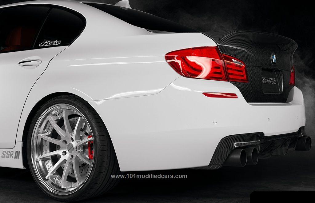 Modified Bmw M5 5th Generation F10 White Color Ssr Wheels