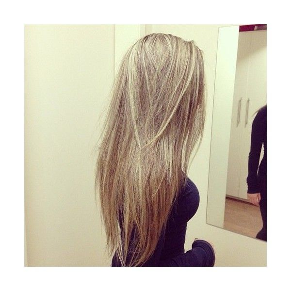 Long Straight Blonde Hair Tumblr Liked On Polyvore Featuring Beauty Products Haircare