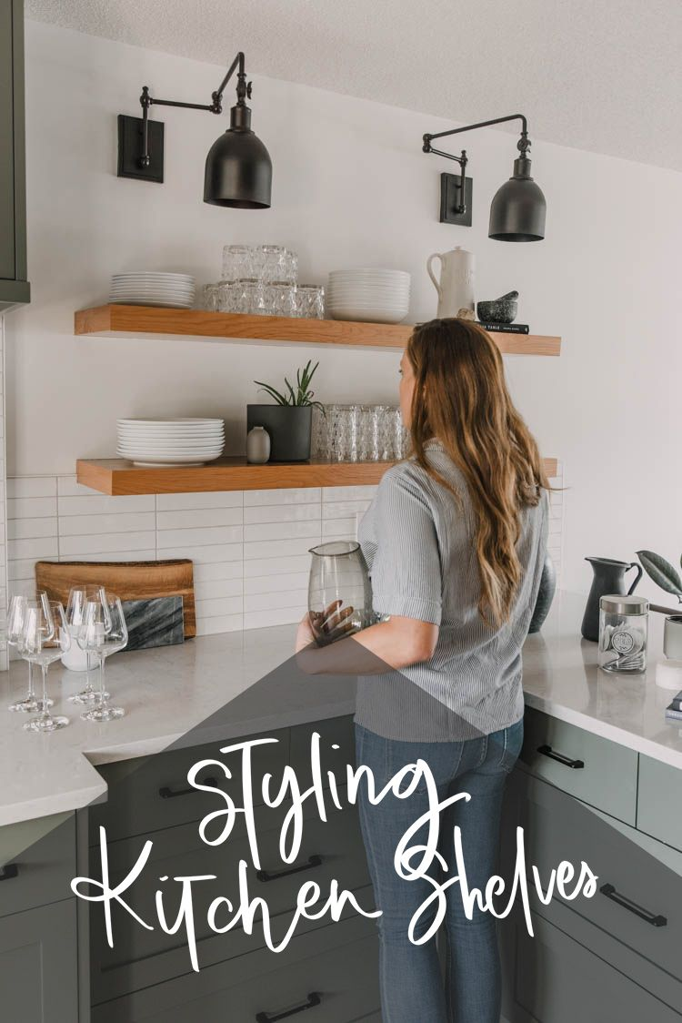 How To Style Kitchen Open Shelves Lemon Thistle Styling