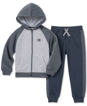 d60f000eb Calvin Klein Baby Boys 2-Pc. Zip-Up Hoodie   Pants Set - Assorted 6-9 months