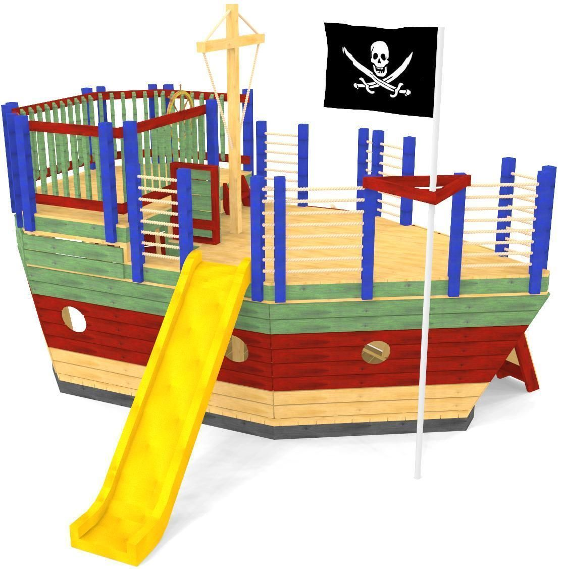 The ultimate outdoor pirate ship playhouse plan. Two ...