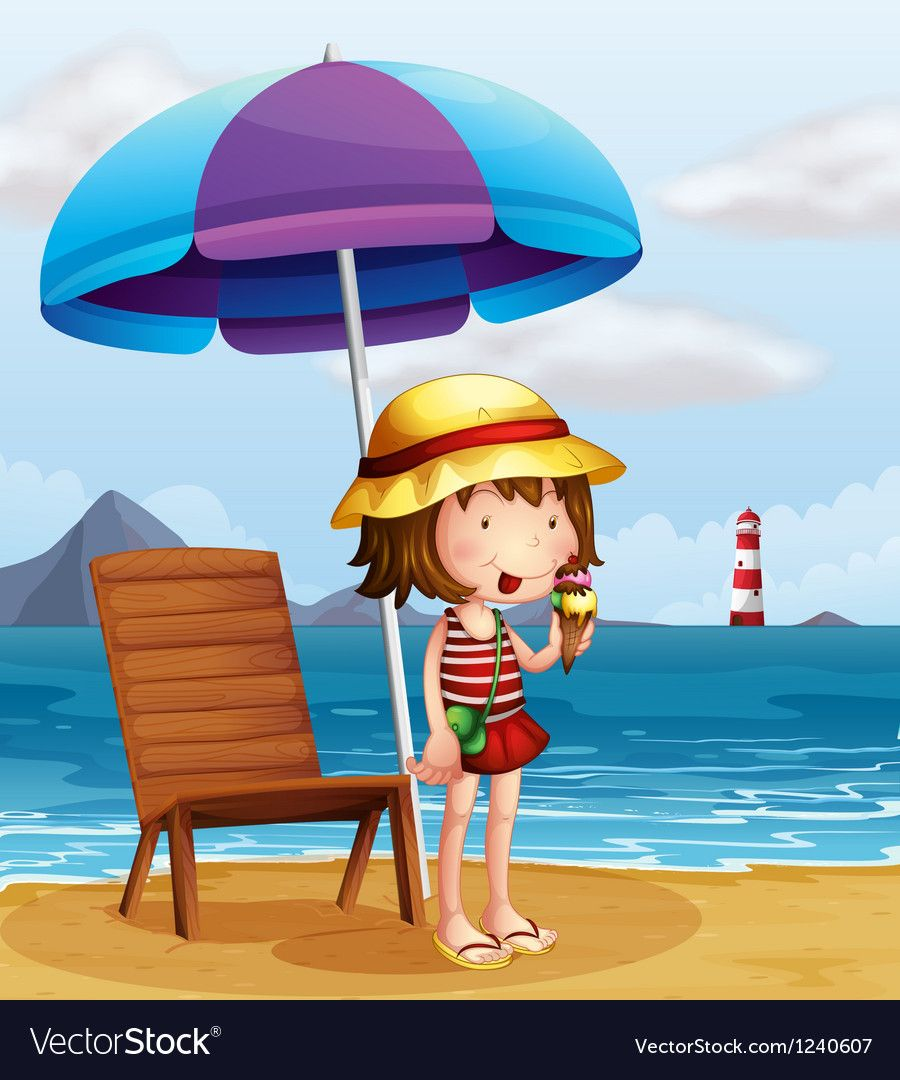 Pin By Maria Dacaret On Ice Cream Beach Clipart Drawing For Kids Cute Cartoon Girl