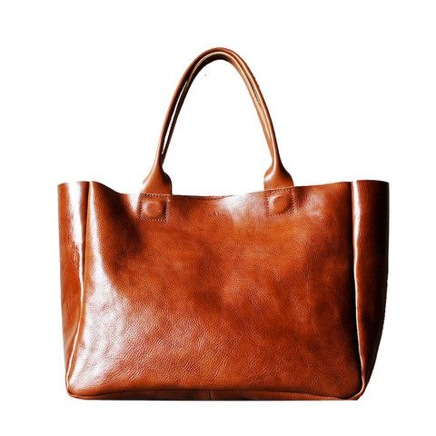 Heirloom tote in cognac by Rib & Hull. Simple/classic.