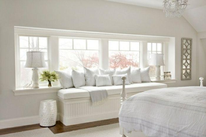 ▷ 1001+ tolle Ideen für Fensterdeko mit Fensterbank Lampen - schlafzimmer ideen weis modern