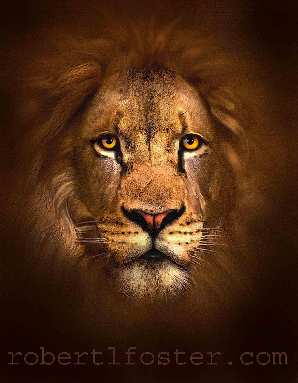 Scar Face Lion Art Print Wildlife Painting