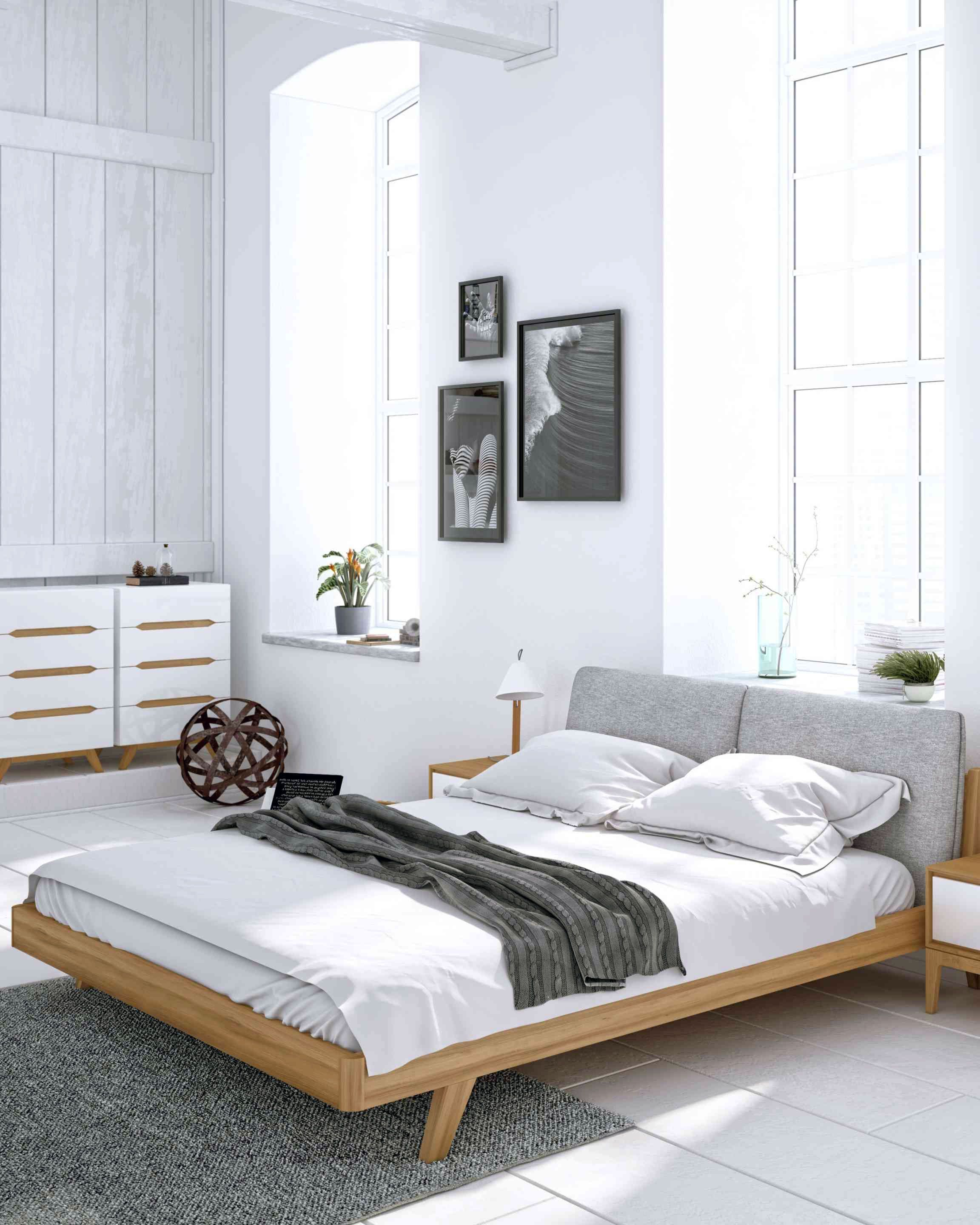 24 Bed Ideas For Scandinavian Bedroom In 2020 Scandinavian Bedroom Decor Contemporary Bedroom Furniture Modern Contemporary Bedroom Furniture