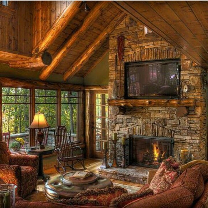 10 Top Rustic Cabin Living Room