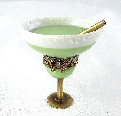 Limoges Box Margarita Cocktail Glass Salt & Straw.
