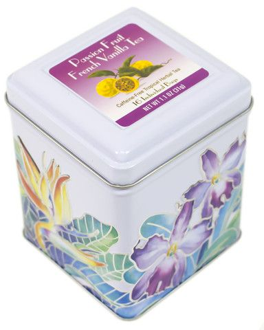 ISLAND PLANTATION - PASSION FRUIT VANILLA TEA - 16 BAGS
