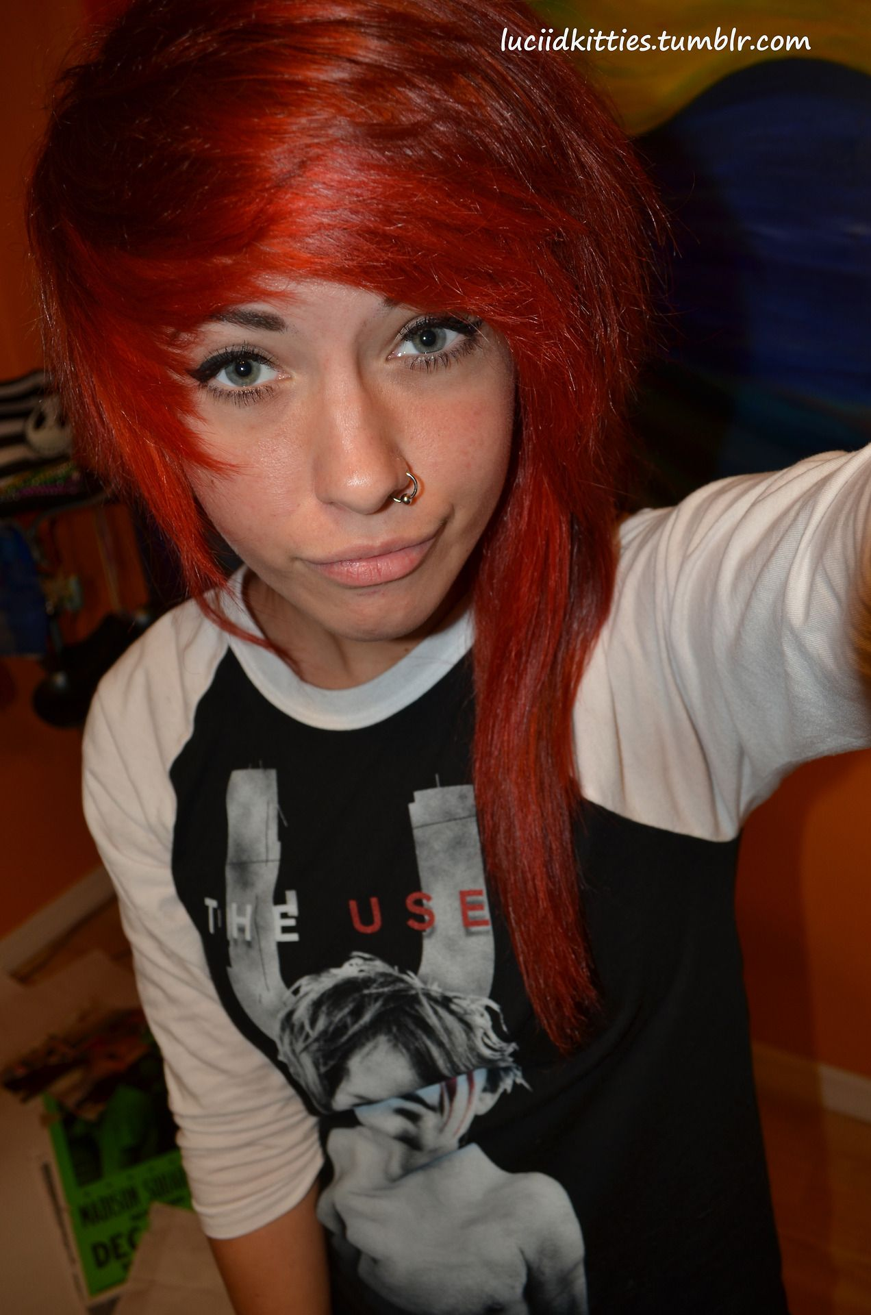 Red dyed scene hair pretty color me pretty hair pinterest