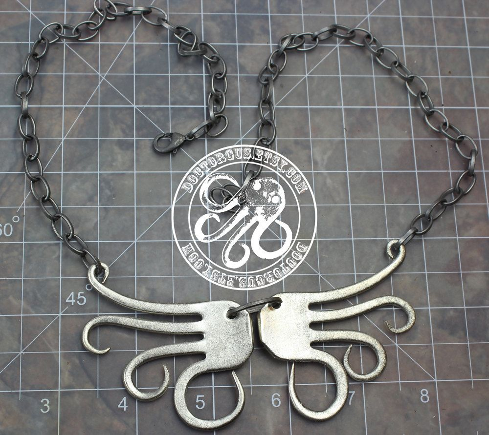 Winged Fork Necklace -- Handmade Made From Antique Sterling Silver Plated Forks -- A Doctor Gus Recycled Silverware Creation. $39.99, via Etsy.