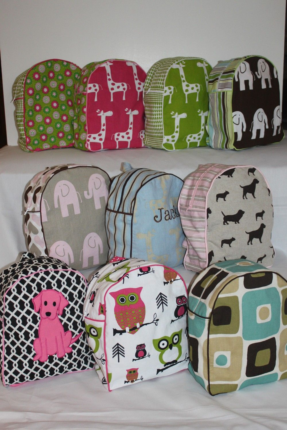 113a4bd7937 Backpack for a preschooler- create your own custom- you pick the fabrics-  available in 2 sizes.  39.00