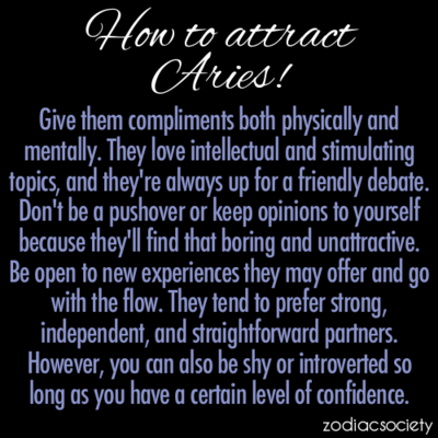 How to attract an aries man