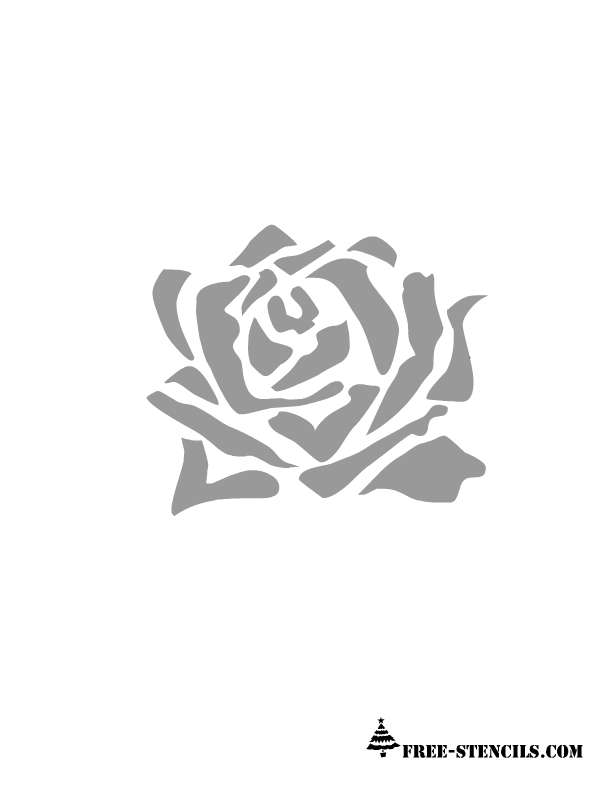 picture about Rose Stencil Printable identify This is a different impression of rose and by yourself can hire this stencil