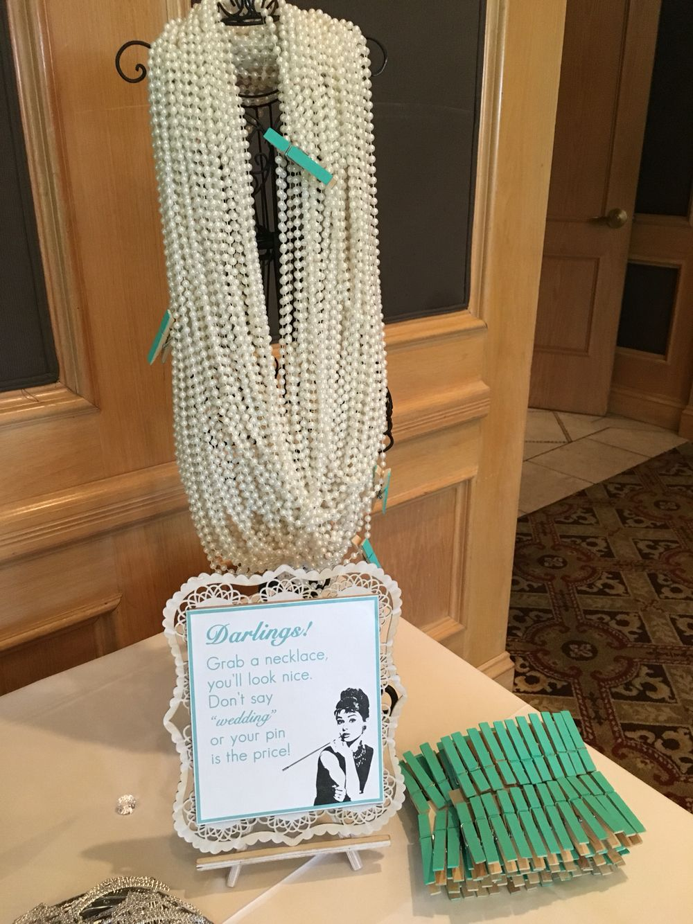 cb7ee09cd2f1 Great idea for a Breakfast at Tiffany s Bridal shower game ...