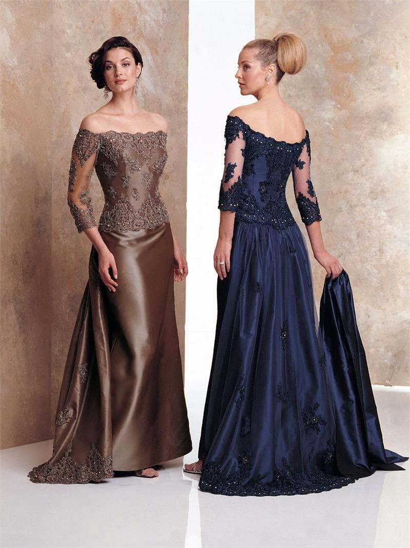 a-line off-the-shoulder taffeta mother of the bride dress