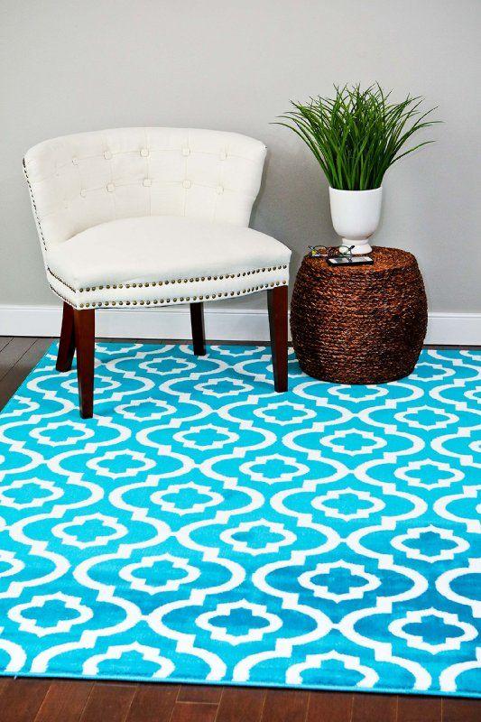 3028 Turquoise Moroccan Trellis 7 10x10 6 Area Rug Carpet Large New Rugs On Carpet Large Carpet Moroccan Trellis