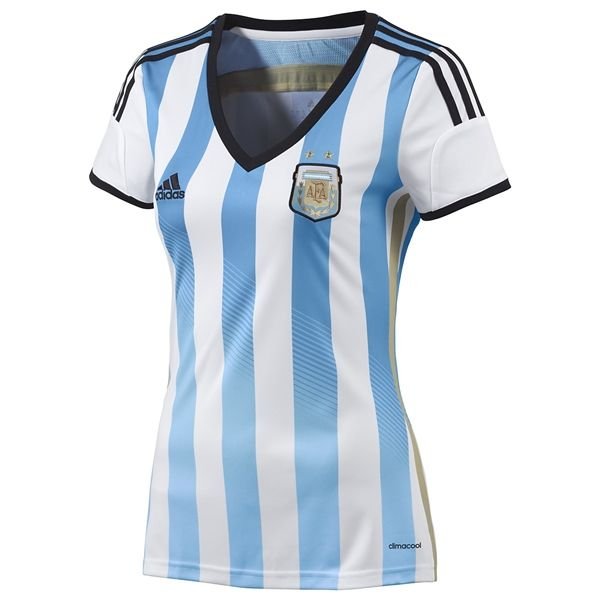 Jersey Argentina Home Ladies World Cup Brazil 2014  82a2d18f2f431