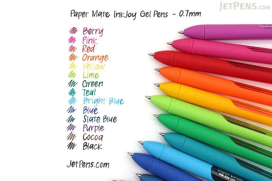 Paper Mate InkJoy Gel Pens, Medium Point, Purple, 3 Count