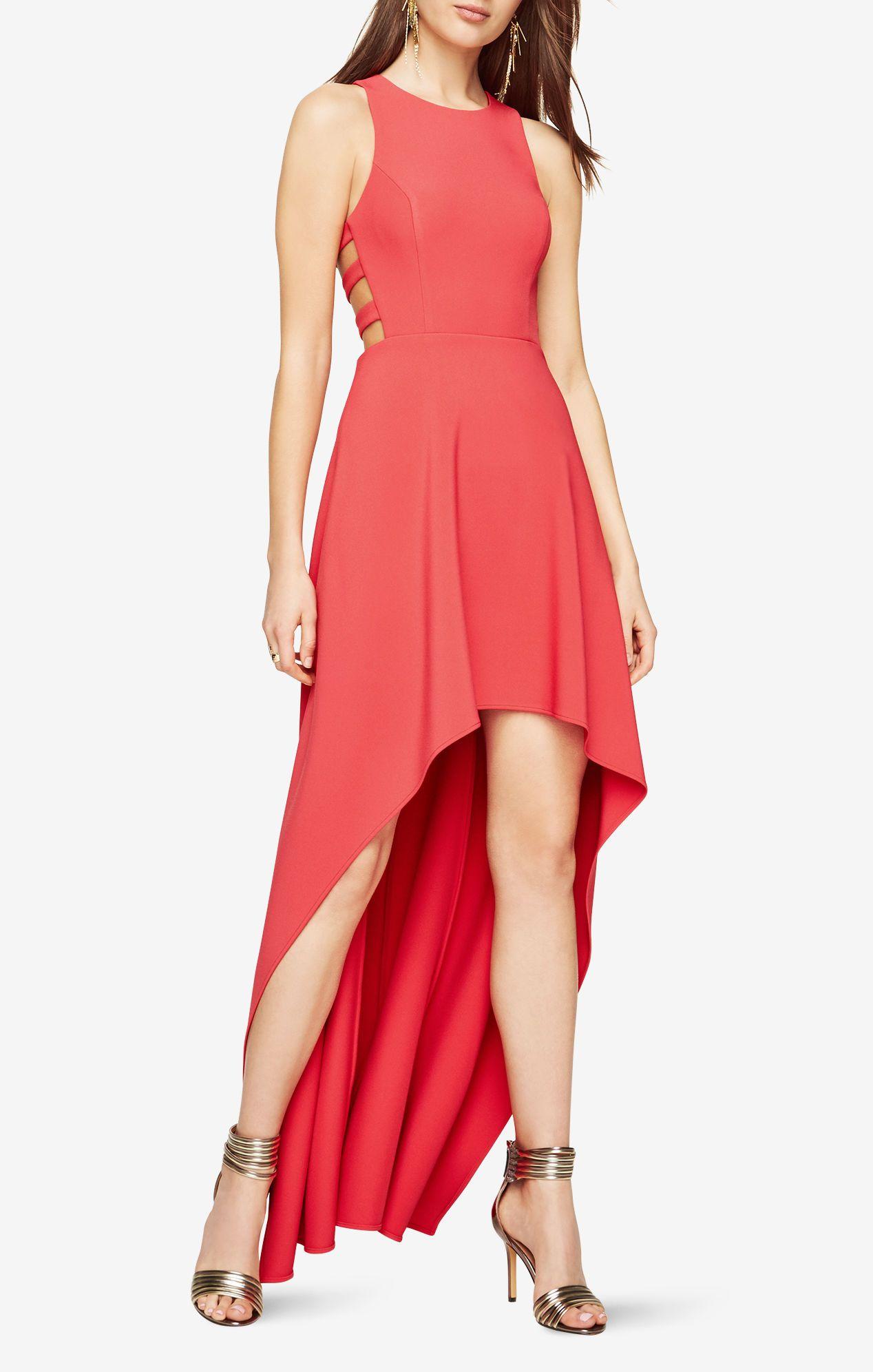 Rosalyn Cutout High Low Dress Bcbg 338 High Low Cocktail Dress Red High Low Dress Bcbg Cocktail Dress