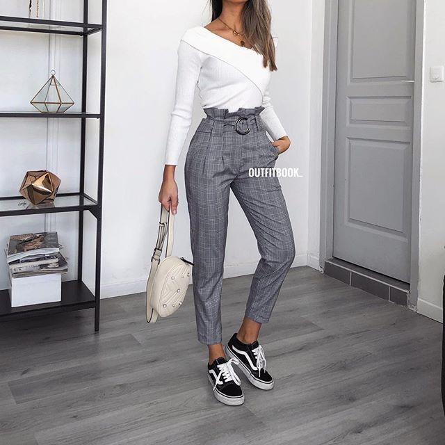 3cde735ff73 This pants tho 🙌🏼😍😍 New in! 🔎 Pantalon à carreaux avec ceinture ...