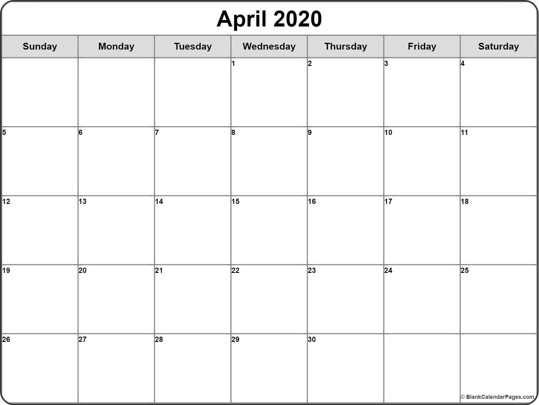 Monthly Calendar 2020 Printable Free Printable Calendar Monthly Printable Calendar Design Monthly Calendar Printable Printable blank monthly calendar template