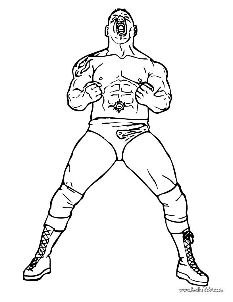 Superstar Batista WWE printable Coloring Pages for kids
