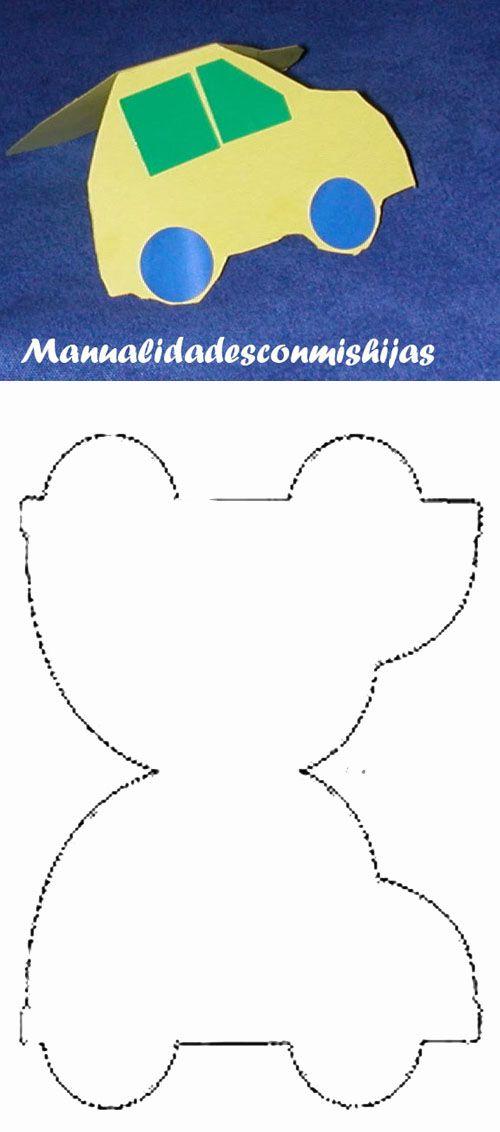 Tarjeta De Coche Manualidades Para El Dia Del Padre Tarjeta