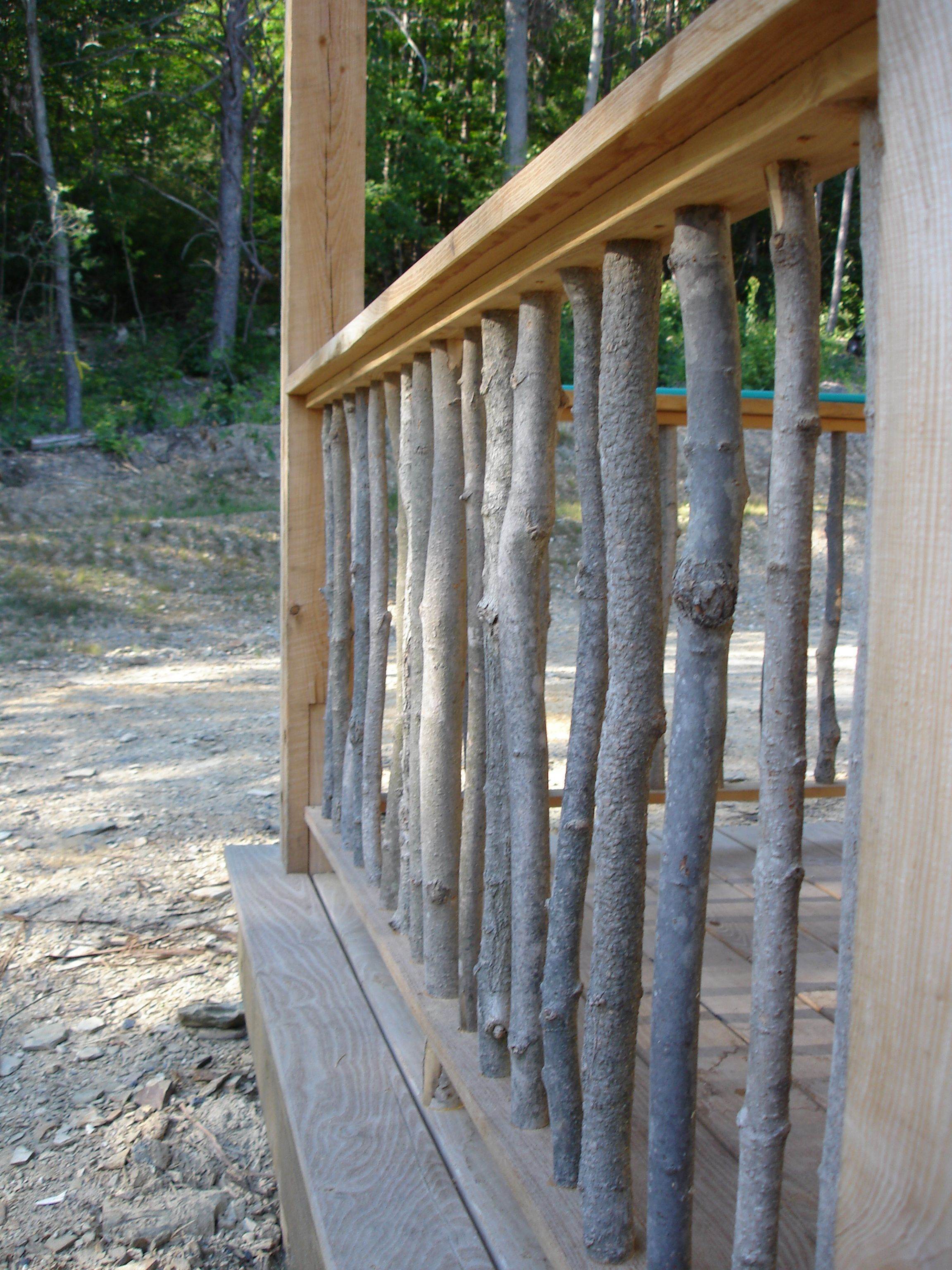 Natural Porch Rail Possibly For My New Porch House With Porch Rustic Deck Stair Railing