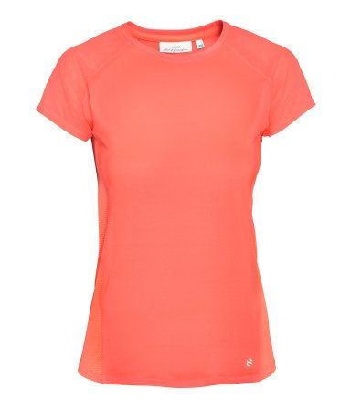 a266a9a47a8db Neon orange. Fitted running top in fast-drying