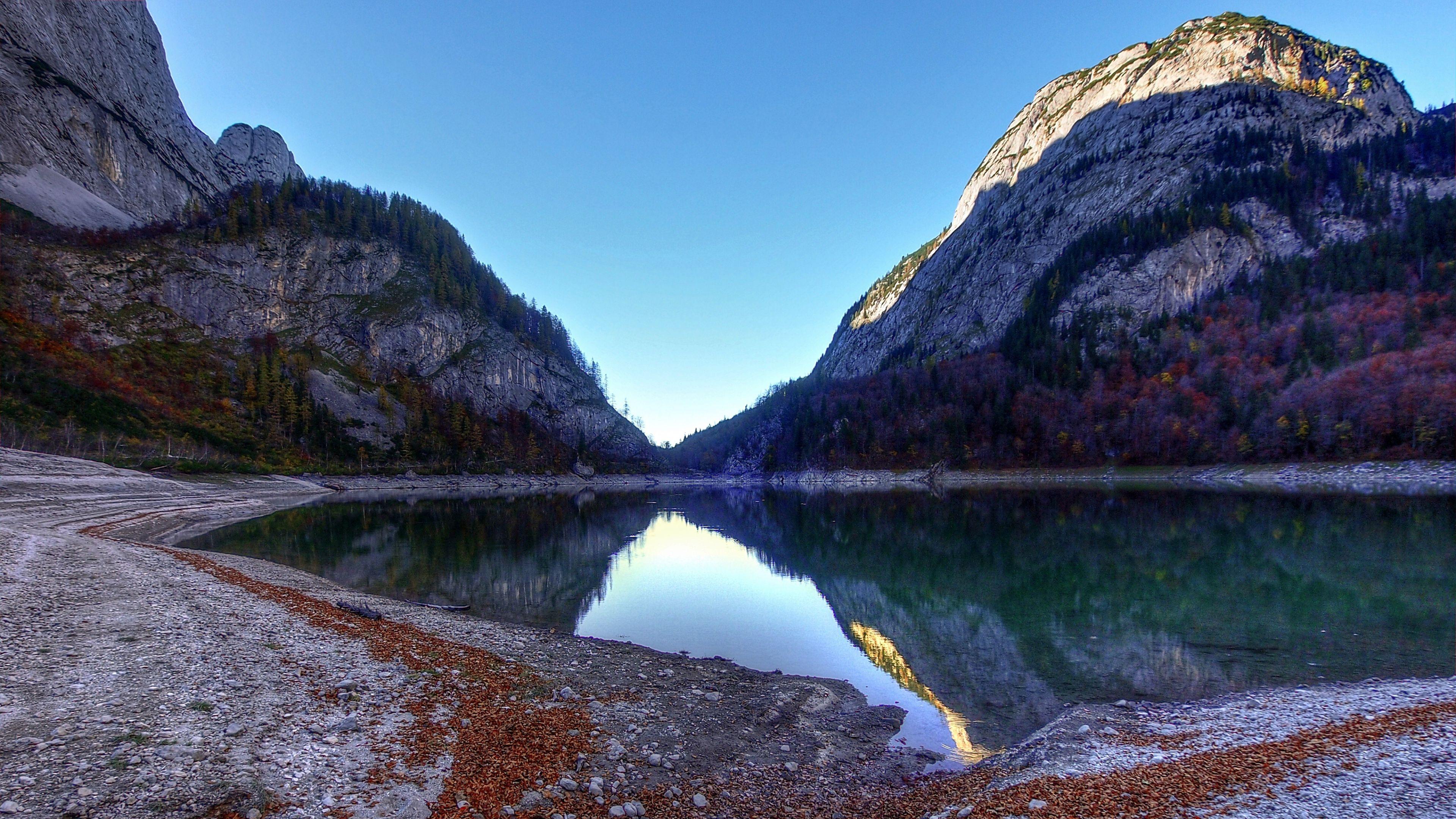 Wallpaper 3840x2160 mountain, lake, landscape, reflection ...