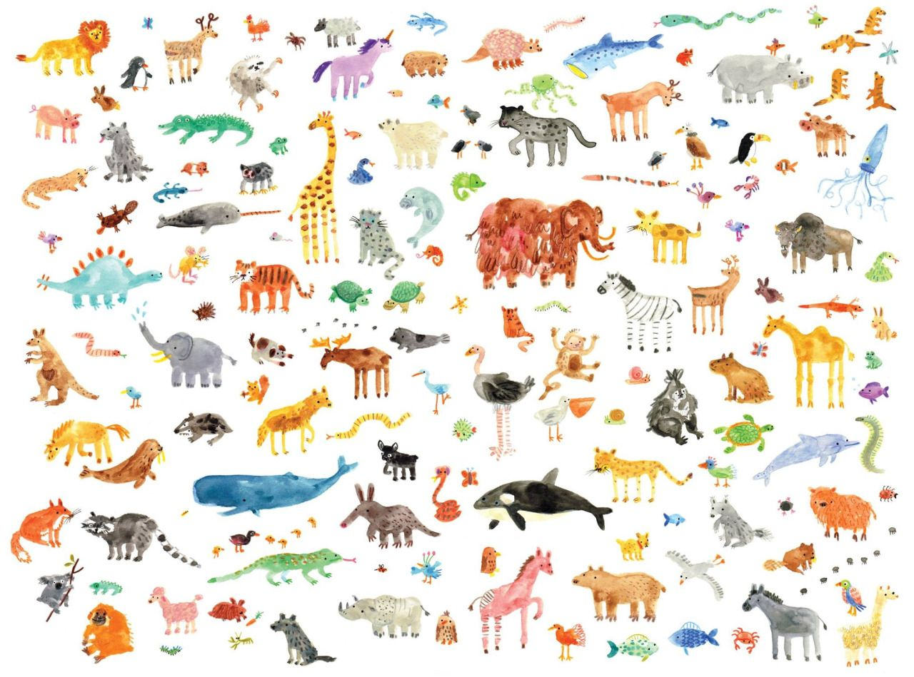 lornascobie: little animals! available as an a3 or a2 print here