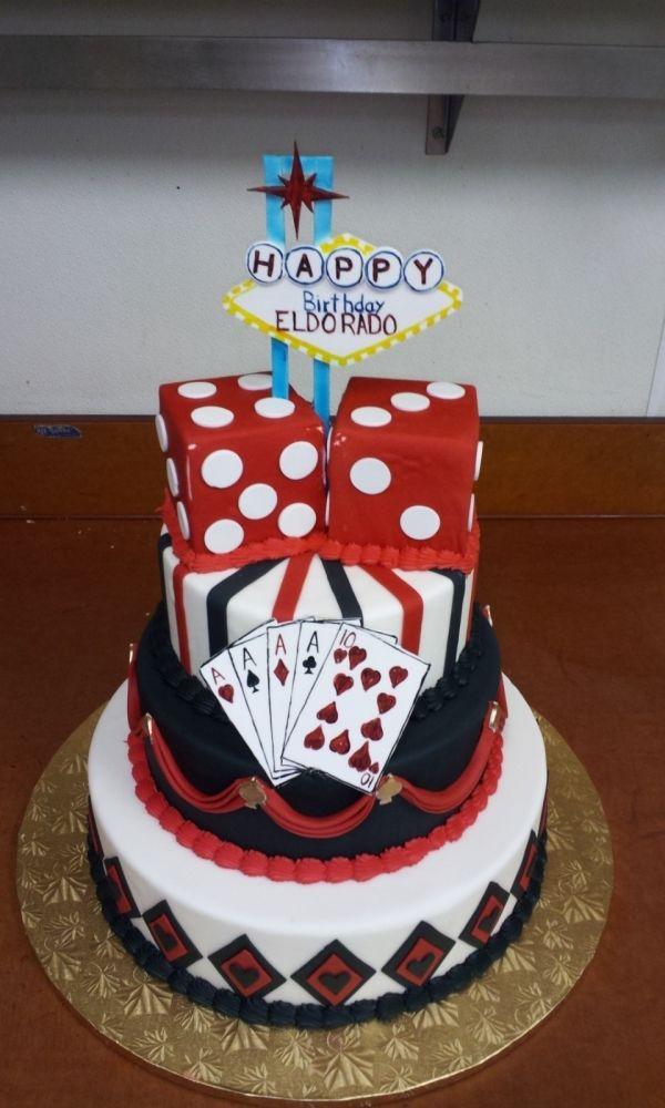 Casino Vegas Poker Cake Boda Caro Tortas De Casino
