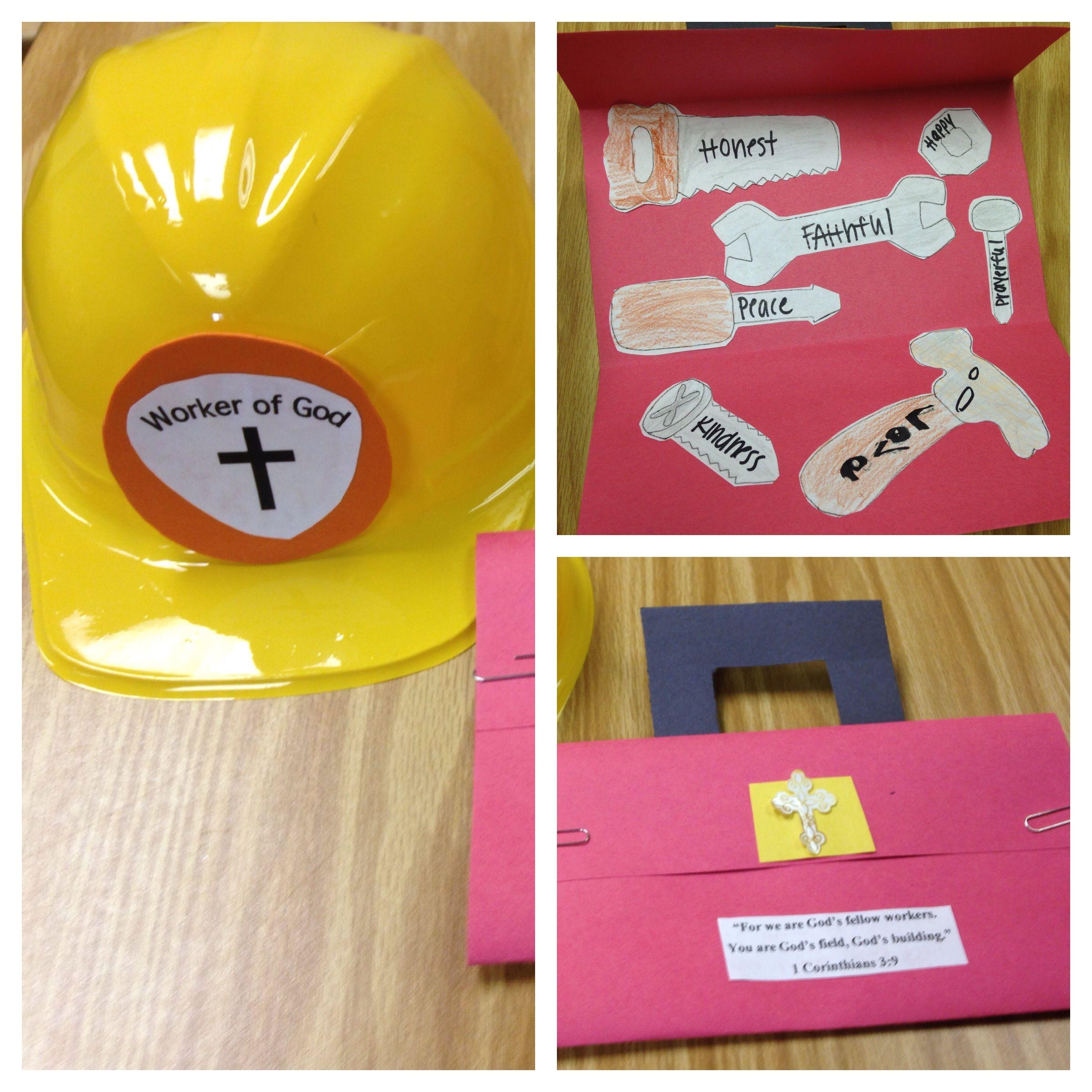 Vacation Bible School Craft Ideas Kids Part - 43: Workers Of God Craft! 1 Corinthians 3:9 Construction Hat And A Christian  Toolbox · Sunday School ActivitiesPreschool ...