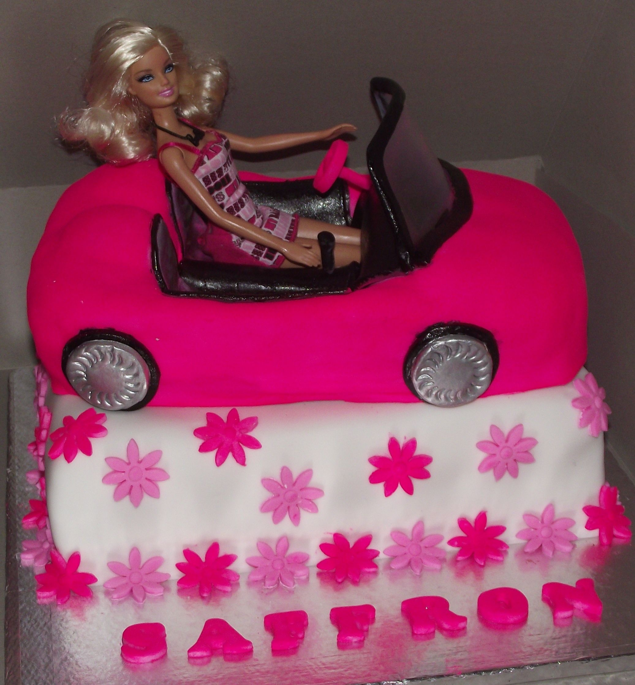 Barbie Car Cake Cakes We Have Made Pinterest Barbie Cars Car