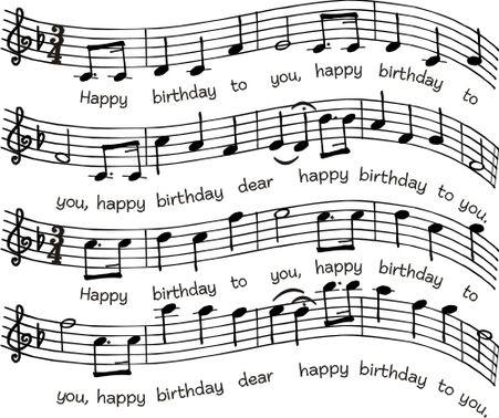 Birthday Sheet Music 763p Happy Birthday Music Notes Happy
