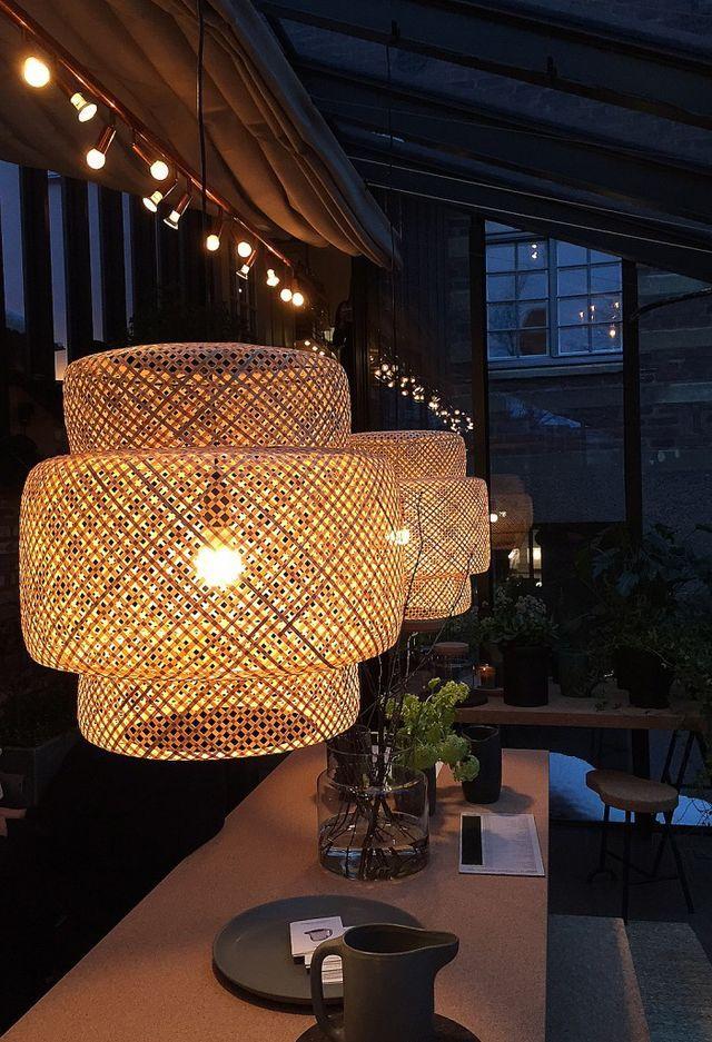 SINNERLIG Taklampa, bambu IKEA