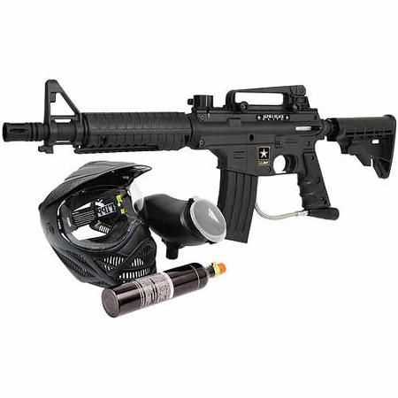Tippmann U S Army Alpha Black Elite Paintball Marker Power Pack Black Airsoft Armas V Force